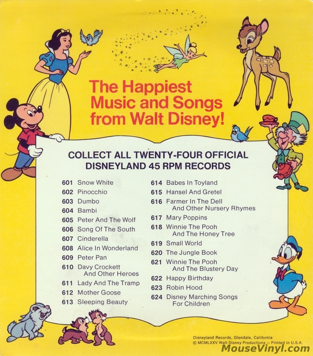 Walt Disney S Song Of The South By Disneyland Records