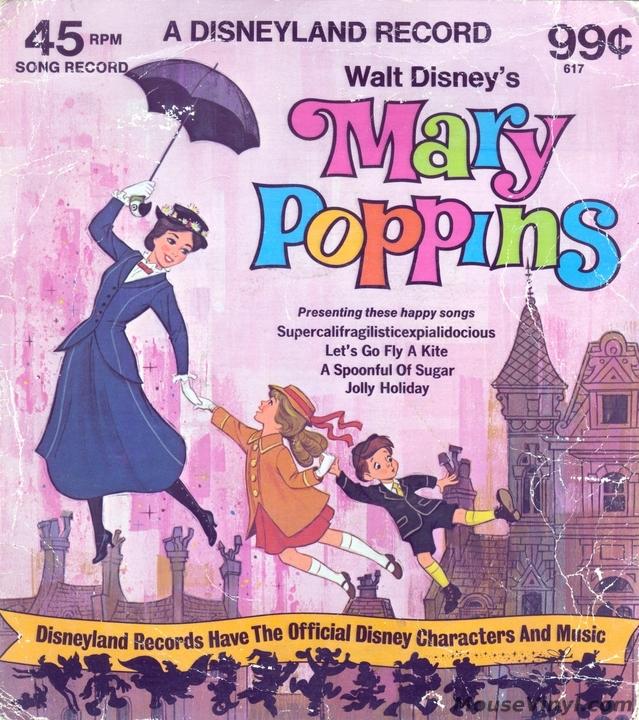 Walt Disney S Mary Poppins By Disneyland Records