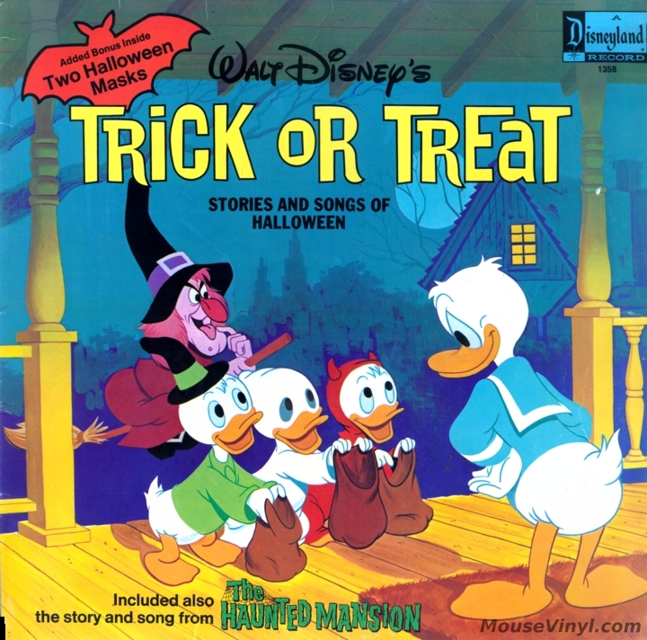 trick or treat stories and songs of halloween by disneyland records