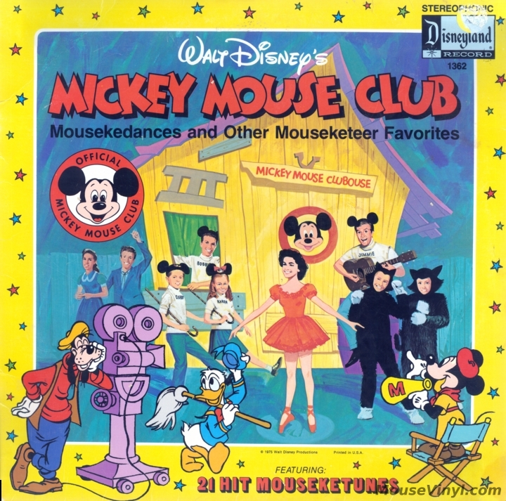 Walt Disney S Mickey Mouse Club By Disneyland Records Mousevinyl Com