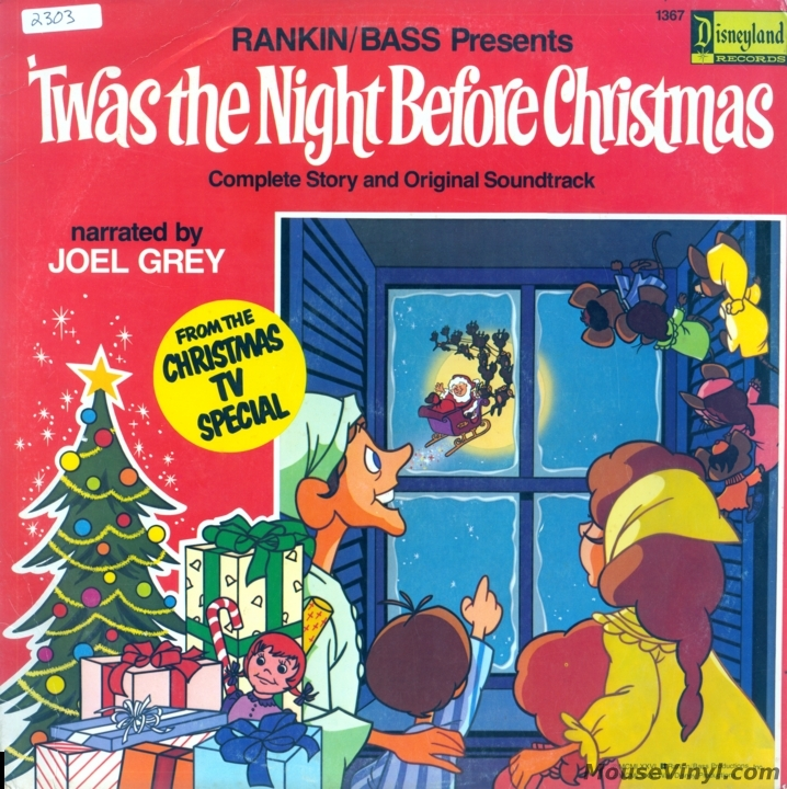 Twas The Night Before Christmas By Disneyland Records