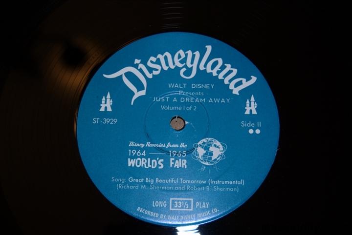 Walt Disney Presents Just A Dream Away By Disneyland Records Mousevinyl Com
